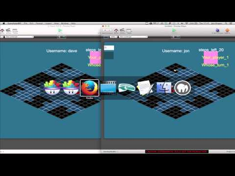 Developing GameSalad Multiplayer Game - Video 12 - Passing basic game data between players