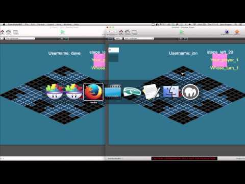 Developing GameSalad Multiplayer Game - Video 12 - Passing basic game data between players
