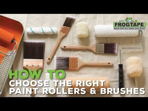 How to Choose the Right Paint Rollers and Brushes