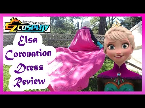 EZ Cosplay Frozen Elsa Coronation Dress Review