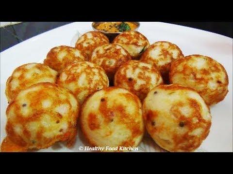 Kuzhi Paniyaram Recipe - Varagu Arisi Kara Kuzhi Paniyaram Recipe-Kodo Millet Kuzhi Paniyaram Recipe