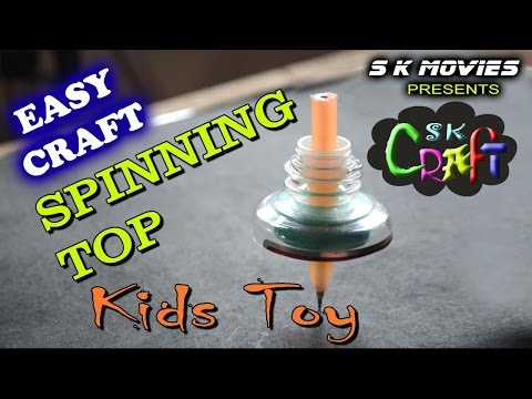 How to make a Spinning Top with bottle | Easy Toy making |  Veblet toy