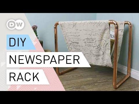 DIY - How to make a newspaper rack