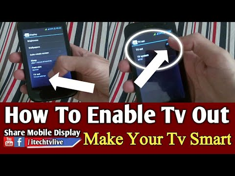 How to Enable Tv Out on Android | Make Your Normal Tv Smart 2018 | #itechtv