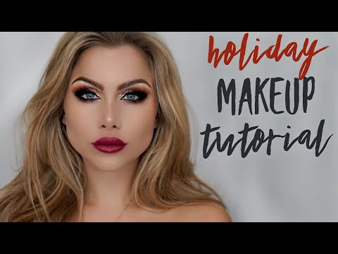 Christmas / New Year's Eve / Holiday makeup tutorial | VLOGMAS | beeisforbeeauty
