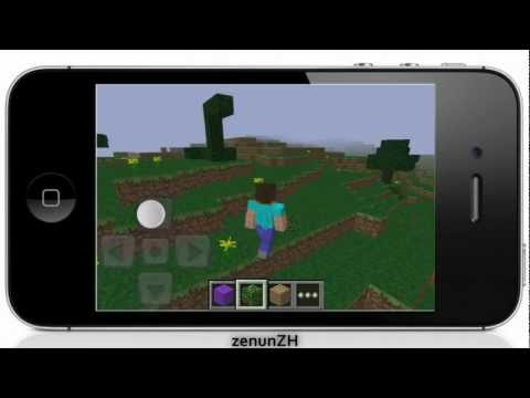 Minecraft - Pocket Edition on iPhone 4s Gameplay / App Review Nr. 14