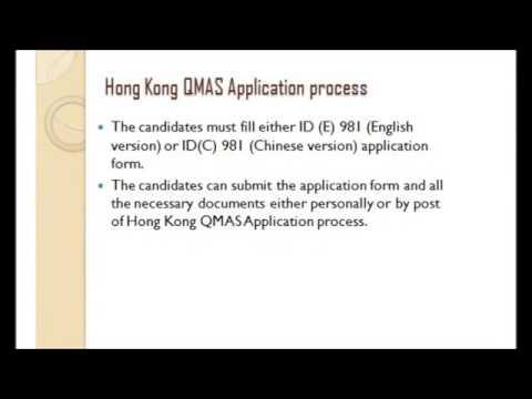 Application process of Hong Kong QMAS