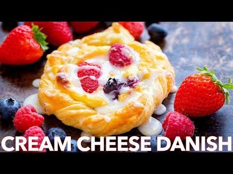 Cream Cheese Danish Recipe with Berries and Lemon Glaze