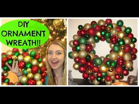 DIY EASY/CHEAP ORNAMENT WREATH! $12 OR LESS