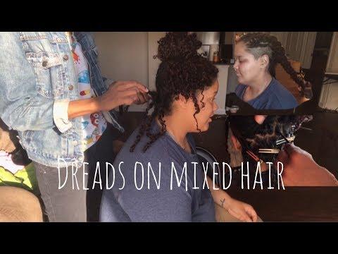 How to start Dreadlocks on MIXED HAIR‼️(Two-strand twist method) 👌🏽😄