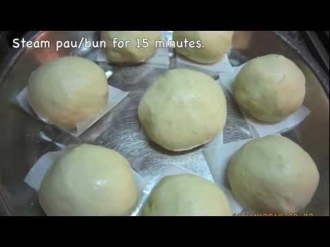 Sweet Potato Pau/Bun with lotus paste filling( 甜薯莲蓉包)