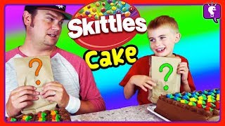 SKITTLES CAKE SWAP! HobbyFrog VS HobbyDad CHALLENGE with HobbyKidsTV