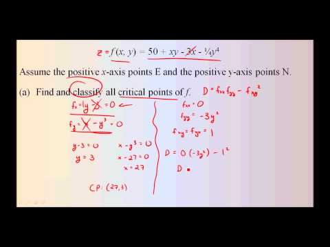Finding and Classifying Critical Points of a Surface