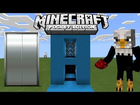 How To Make Simple Elevator - Minecraft Pe