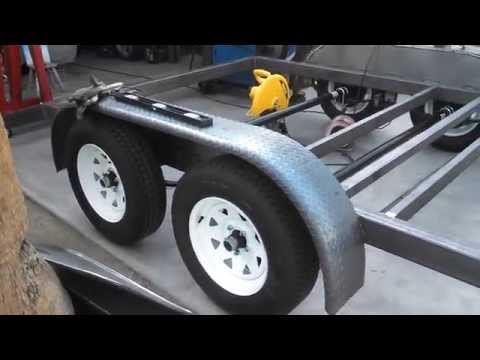Building an 18' flat trailer car carrier/hauler with dove tail project part 4