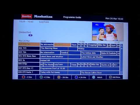 Manhattan Plaza HDT-700 Freeview HD Receiver - 1st Time Install