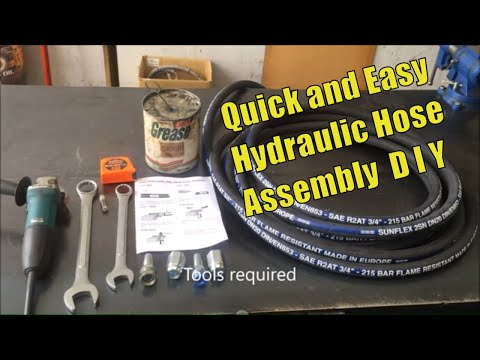 Re usable hydraulic hose fitting demonstration