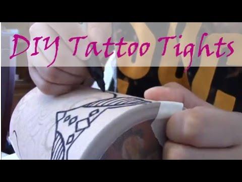 Cheap Tattoo Tights: DIY