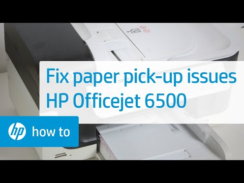 Printer Does Not Pick Up or Feed Paper - HP Officejet 6500