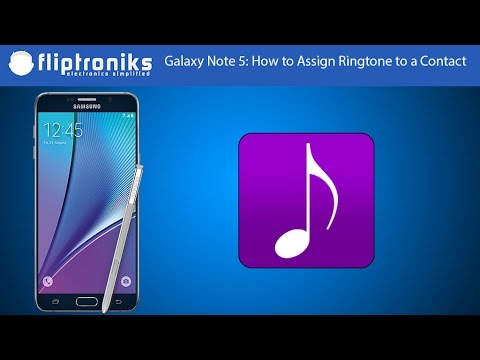 Galaxy Note 5: How to Assign Ringtone to a Contact - Fliptroniks.com