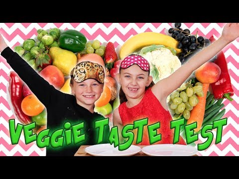 FRUIT & VEGETABLE KIDS TASTE TEST! - Nicko's Kitchen Junior