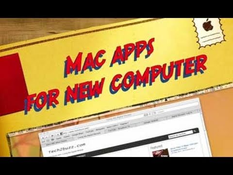 Mac apps that I install on a new Apple Macintosh computer