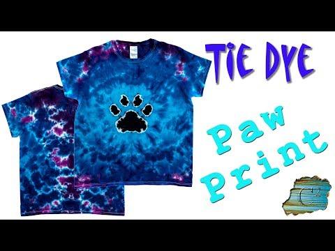 How to Tie Dye:  Paw Print
