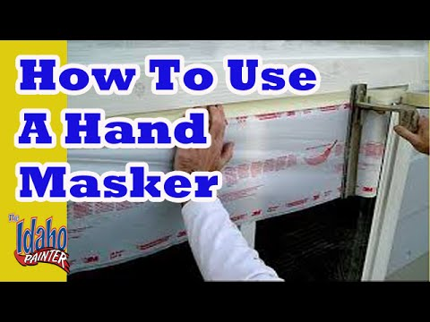 How to use a masker.  DIY painting, tape, and masking hacks.  Using A Hand Masker