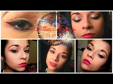 4th of July Glitter Makeup Tutorial
