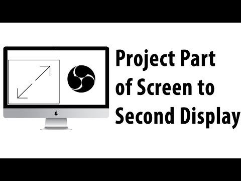 Project Part of Screen to Second Display