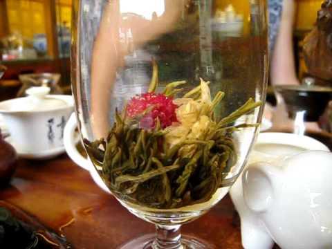Jasmine tea with flower