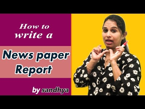 How To Write News Report || Learn To Write News Report || My Grammar Pages