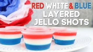Download Red White and Blue Layered Jello Shots Video