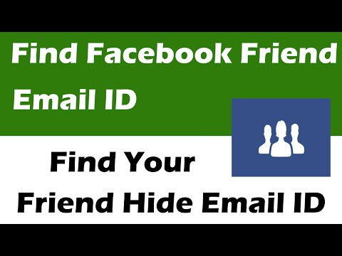 How To Find Facebook Friends Hidden Email Address Easy way