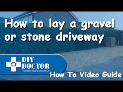 Laying a stone, gravel or shingle driveway