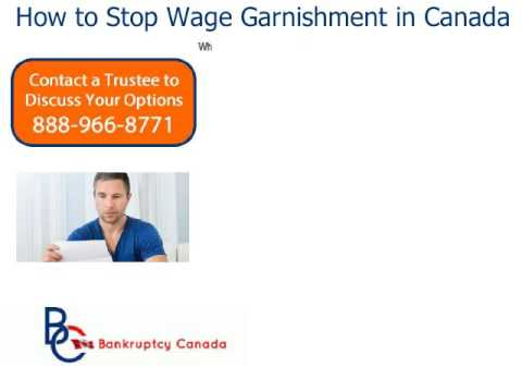 How to Stop Wage Garnishment in Canada