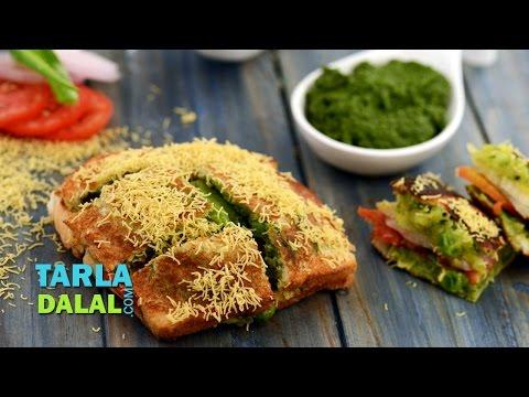 Masala Toast (Mumbai Roadside Snacks) by Tarla Dalal