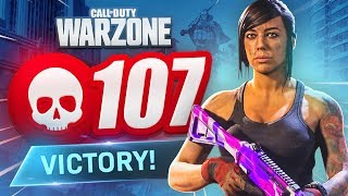 NEW RECORD! 107 KILL GAME in CoD WARZONE! (Best Loadout)
