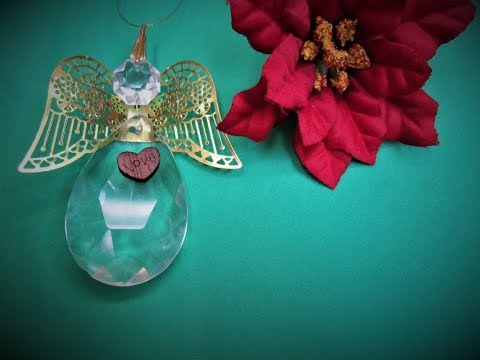 Crystal Chandelier Teardrop Angel ~ Featuring Miriam Joy