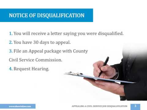 APPEALING A CIVIL SERVICE JOB DISQUALIFICATION