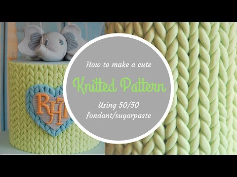 How to create a KNITTED PATTERN on a cake | By Ilona Deakin from Tiers Of Happiness