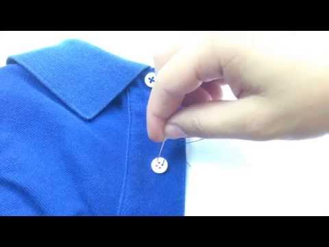 Easy way: How to sew a button on a shirt
