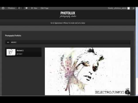 Photolux Themes Tutorial - Creating Portfolio Showcase