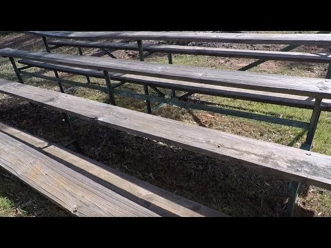 Metal Detecting Old School Bleachers: You Won't Believe What I Didn't Find!!