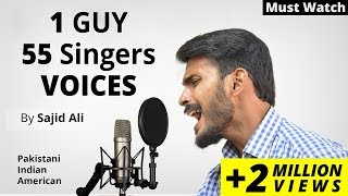 50 Plus Singers Mimicry ( VOICE IMPRESSION ) By Sajid Ali