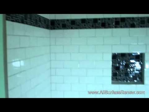1980s fiberglass bathtub renewed to shiny white