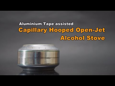 Capillary Hooped Open-Jet Alcohol Stove