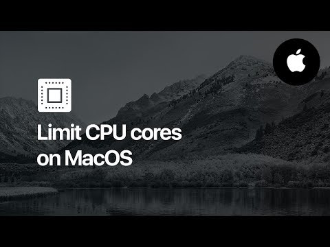 How to Limit CPU Cores - MacOs (Mac OS X)