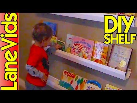 ⚒ DIY SHELF IDEAS 📚 | DIY Kids Bookshelf from Rain Gutters | LaneVids