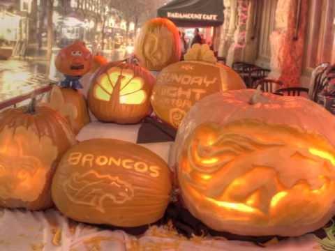 CHI Sunday Night Football Pumpkin Carvings